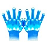 UWEIDOIT LED Gloves, Flash Finger Lights Gloves, 3 Colors 10 Modes Colorful Light Up Gloves Glowing Christmas Costume Clubbing Party Favors Toys for Boys Girls