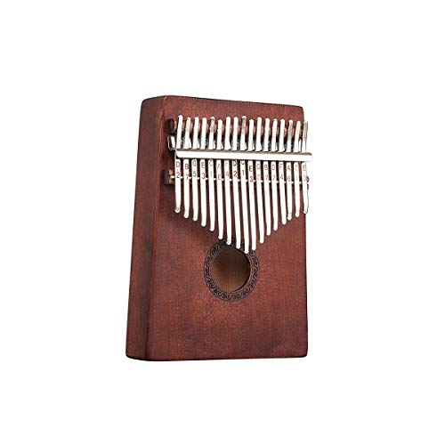 SuoSuo SFFSM Piano de Pulgar Kalimba de 17 Teclas, Caoba Pura, Hermoso...