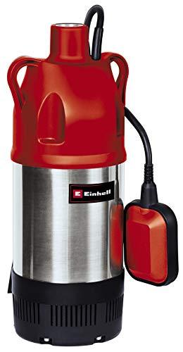 Einhell Tauchdruckpumpe GC-DW 900 N (900 W, 6.000 l/h max. Fördermenge, 7m max. Eintauchtiefe, Edelstahlgehäuse, Schwimmerschalter, 2 Aufhängeösen)