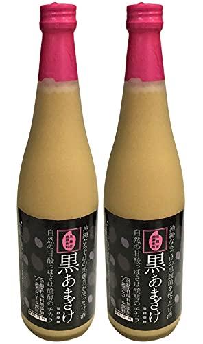 無添加 沖縄唯一の甘酒 黒あまざけ 720ml×2本 ★宅配便★黒麹を使った沖縄唯一の甘酒。お米のやさしい甘さとクエン酸のほのかな酸味のバランスが絶妙なすっきりとした味わい。砂糖不使用。ノンアルコール。