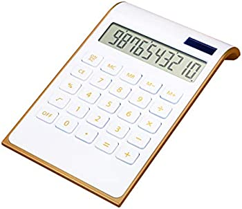CAVEEN Ultra Thin Solar Power Calculator with Tilted LCD Display