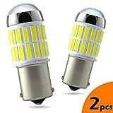LUMENEX P21W 1156 LED Ampoules BA15S 7506 1141 36SMD 12V 24V pour RV Lampes Voiture Feu Recul Stationnement Clignotants Feu Arrière DRL Feux de Jours Blanc 2X