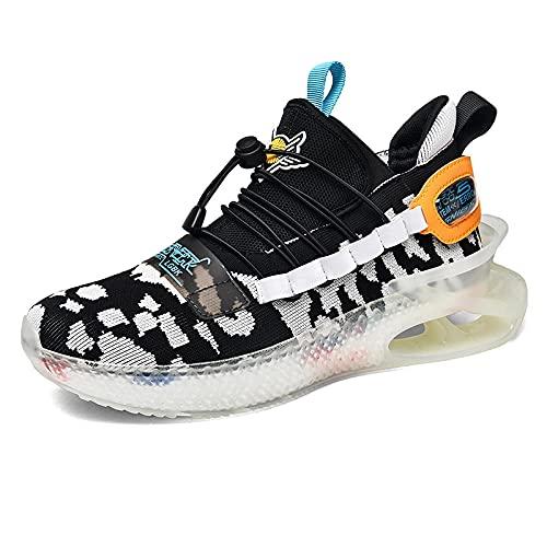 BAIDEFENG Zapatillas de Moda con Personalidad,Zapatillas de Correr tridimensionales Ligeras, Zapatillas de Tenis cómodas y refrescantes-Camuflaje_40