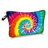 Tie Dye Cosmetic Bag Makeup Bags,Small Makeup Pouch Travel Toiletry Organizer With Zipper For Women Girls