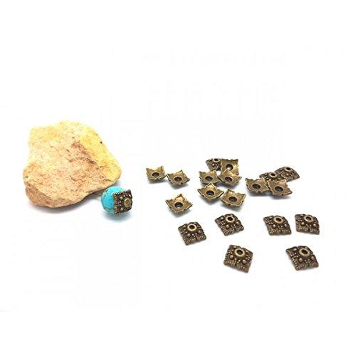 Creafirm 10 Calottes coupelles Bronze Forme carré 10x10mm
