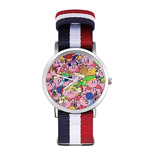 Game Kirby - Reloj de ocio para adultos, moderno, hermoso y personalizado, de aleación, casual, deportivo, para hombres y mujeres