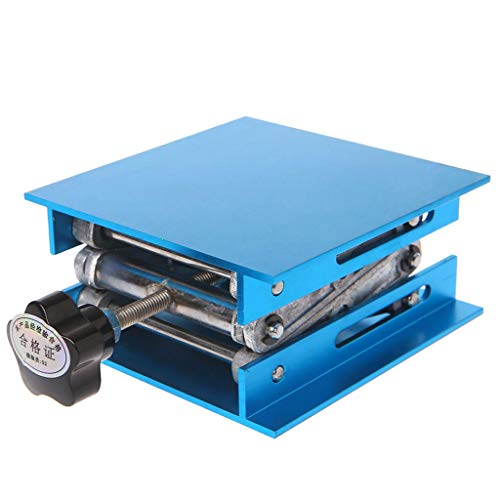 JOYKK Aluminium Router Lift Tafel Houtbewerking Graveren Lab Lifting Stand Rack - Blauw