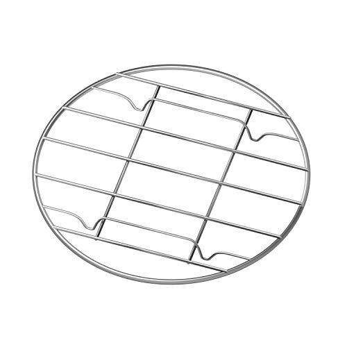 G Gallize Stainless Steel Steamer Rack - Multi-Purpose Round Cooling Rack for Baking, Canning, Cooking, Steaming, Lifting Food in Pots, Pressure Cooker, Steamer and Oven