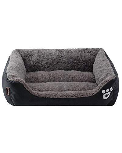 Flairstar Waschbares Hundebett mit Plüsch,Hundekörbchen für Kleine und Große Hunde