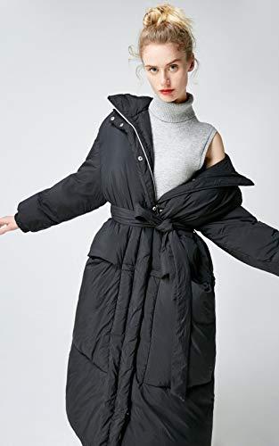 DPKDBN Parker, dames nieuw ontwerp met capuchon lang wit ganzendons jas Parka jas donsjack