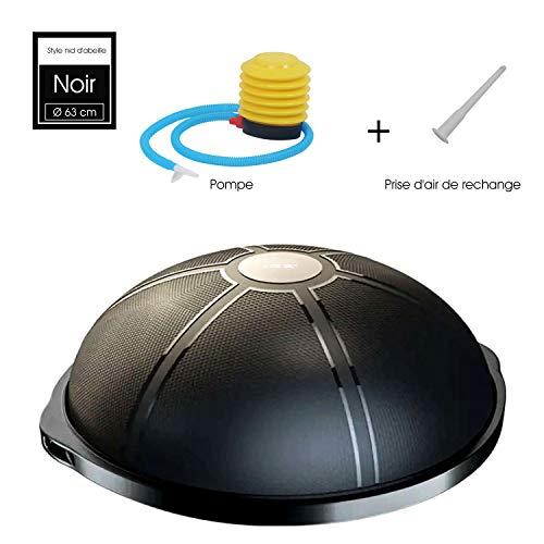 ISE Balance Trainer Ball Ballon d'équilibre Ø 64 cm,équipement de Fitness,Max.300 KG, SY-BAS1002 (Noir)
