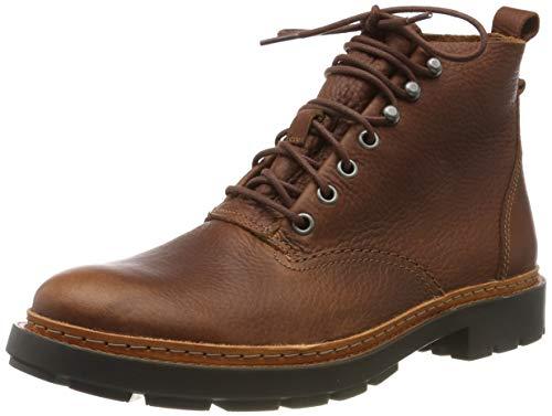 Clarks Herren Trace Explore Biker Boots, Braun (Tan Leather), 45 EU