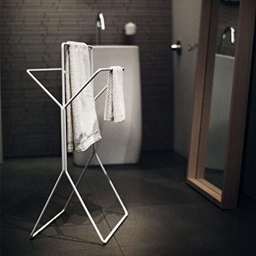 Jan Kurtz Wingman Handtuchhalter, Stahl, weiß, 33.5 x 47 x 87 cm