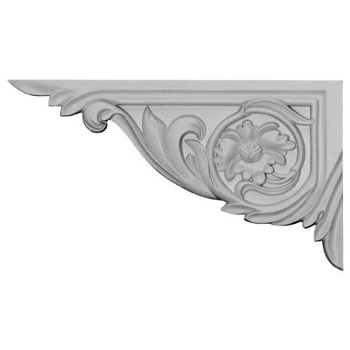 Ekena Millwork SB11X06VI-L Suporte de escada Vincent, esquerdo, 28 cm L x 16 cm A x 15 cm D, preparado