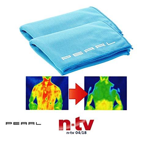 PEARL Kühlhandtuch: Effektiv kühlendes Multifunktionstuch, 110 x 35 cm, 2er-Set (Kühlhandtuch Cool Towel)