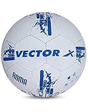 كرة قدم فيكتور اكس روما مُحاكة يدويًا (بلون ابيض-ازرق) (المقاس-5)