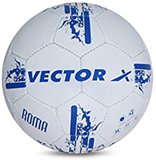 Vector X Roma Hand Stitched Football (White-Blue) (Size-5)