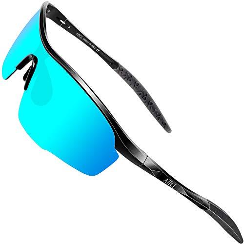 ATTCL Herren Polarisierte Sonnenbrille Sportbrille Fahr Angeln Golf brille UV400 Schutz 8700 Blue