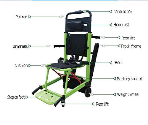 Elektrische kletternde Rollstuhl-Raupen-Art Lithium-Batterie, Rollstuhl-Treppen-kletternde Fördermaschine für untaugliche ältere Personen