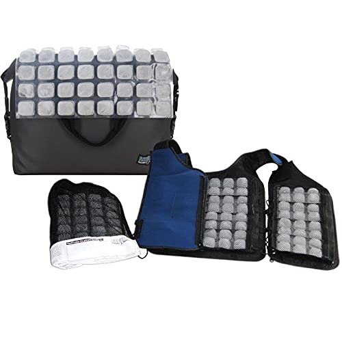 Personal Cooling Kit - Ice Vest with Additional Ice Sheets and Travel Cooler (velcro)