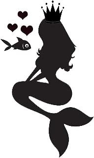 Kreative Decals Mermaid Silhouette Children Bedroom Vinyl Wall Decal (10x16, Teal)