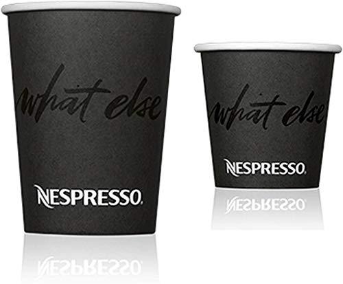 Einweg-Pappbecher-Set für Nespresso, 80 Stück Enthält 30 Tassen 240 ml und 50 Tassen 100 ml Ideal für Espresso, Cappuccino oder andere heiße Getränke