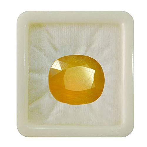 Jewelryonclick sin metal Zafiro amarillo natural
