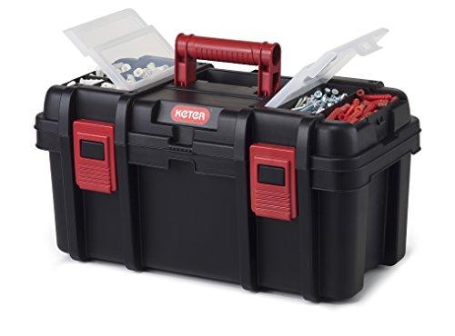 "Keter Classic Tool Box 19"" Plastic Portable Organizer Tool Box Storage Solution"