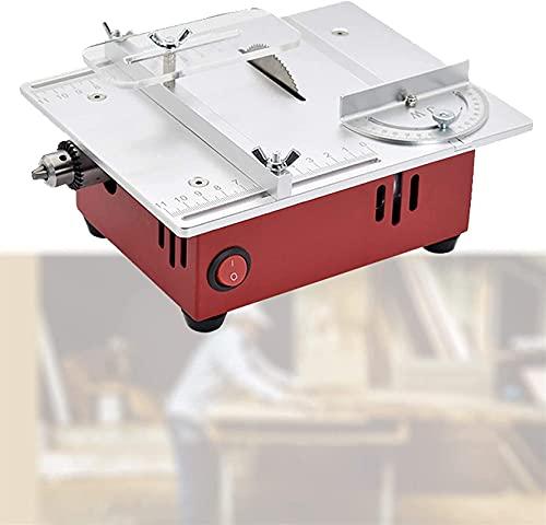 FZYE Sierra de Mesa portátil de sobremesa, Mini Sierra de Mesa de sobremesa, Amoladora pulidora de máquina de Corte eléctrica, Ajuste de Siete velocidades, Corte de múltiples ángulos pa