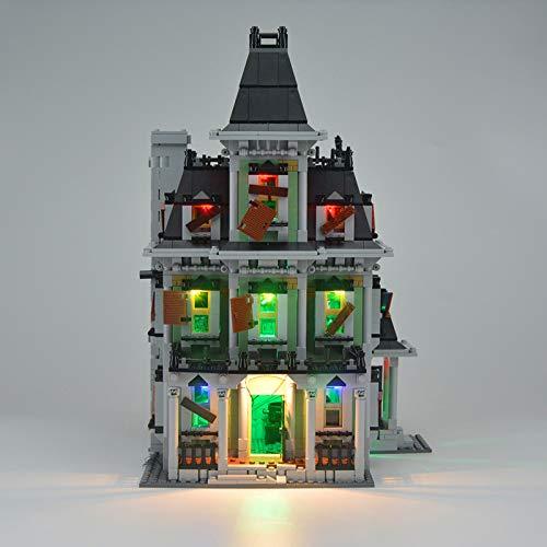 RTMX&kk Conjunto de Luces para Casa encantada de Monster Fighters Modelo de Construcción de Bloques, USB Juego de Luces Compatible con Lego 10228 (Modelo Lego no Incluido)