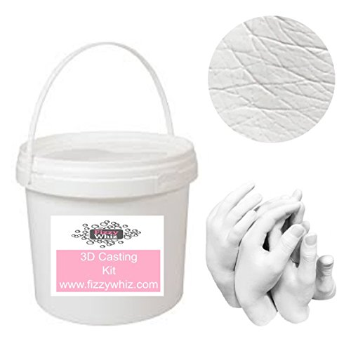 3D Extra Large Casting Kit - Holding Hands Family Moulding Powder Paint Tools Plaster Mixing Bucket (Set 4 - Copper Paint)