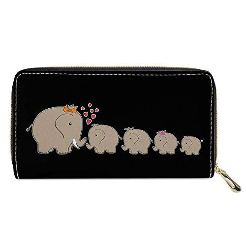 chaqlin Cartera de cuero para mujer, monedero para perros pequeños en el amor, regalo para su novia, esposa, monederos de teléfono, tarjetas