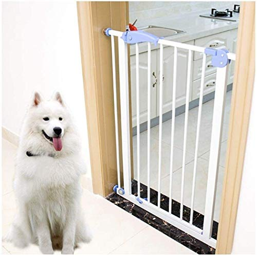 Jacquelyn Safety Gate Metal Adjustable Baby Pet Safety Gate Stair Gate Auto-Close with Pressure Mount Expandable Stands 100cm tall The width can be selected from 75 to 300cm Ideal for Kids and Pets
