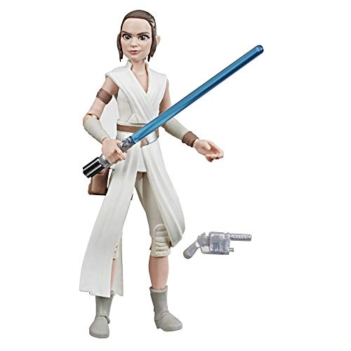Star Wars - Figura de acción de Rey con sable de Galaxy of Adventures (Hasbro E3804EL2)