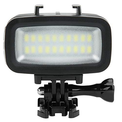 PUSOKEI Luz de Relleno de Buceo, iluminación de cámara LED subacuática de 40 m, cámara LED Impermeable para fotografía Luz de Relleno de Buceo para cámara Deportiva/SLR/cámara sin Espejo