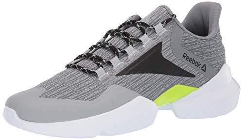 Reebok unisex-adult Split Fuel, True Grey/Black/neon Lime/White, 13 M US