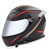ABDOMINAL WHEEL Motocicleta Casco Integrales,Bluetooth Casco Moto Modular,Casco De Motocicleta ECE Certificación con Función De Respuesta Automática I,59~60CM