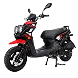 X-PRO Moped Scooter Street Scooter Gas Moped 150cc Adult Scooter Bike with 12' Aluminum Wheels! (Red)