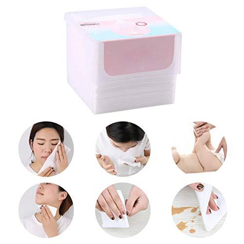 50Pcs Wattepads Einweg-Gesichtsbaumwollgewebe Gesicht Papiertuch-Gesichtsreinigung Towelettes weiches Handtuch Baby wischt Anzug für empfindliche Haut Weiß