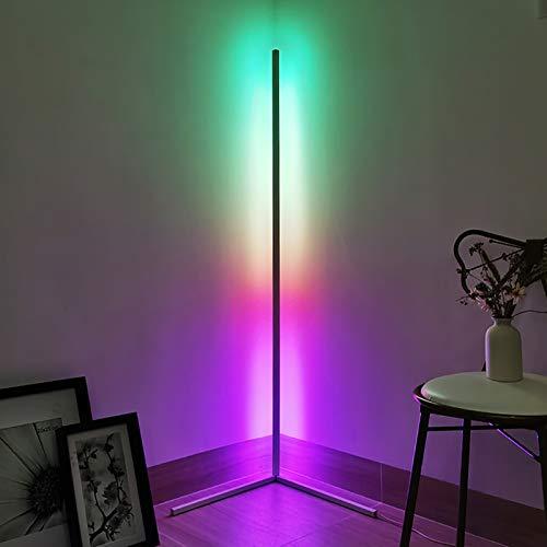 ZWPY Foot Lamp Corner Lamp Modern Dimming Foot Lamp Corner Remote Control RGB Ambient Light Bedroom Living Room Lighting Savings