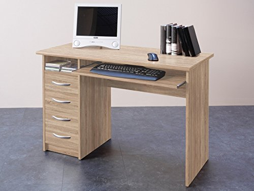 möbelando Schreibtisch Computertisch Bürotisch Arbeitstisch Tisch Büromöbel Taunton I Sonoma-Eiche