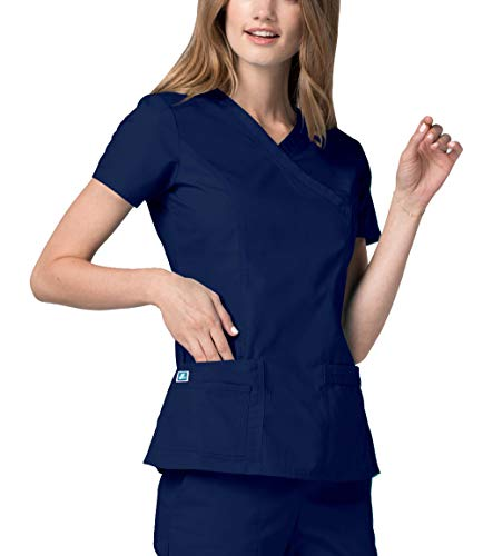 Adar Universal Divisa Ospedaliera da Donna - Doppia Cucitura Finto Avvolgimento - 2638 - Navy - M