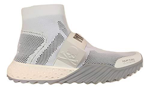 Philipp Plein Herren Sneakers Stiefelette A19SUSC0022PKN002N Weiß, Weiß - Bianco - Größe: 44 EU