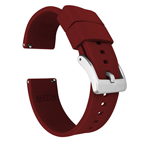 Barton Elite - Correa de reloj de silicona – liberación rápida – elegir color – 18 mm, 20 mm y 22 mm correas de reloj