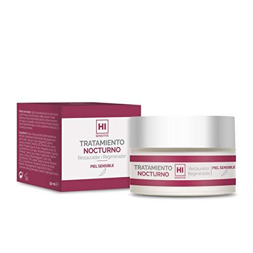 HI Sensitive | Tratamiento Nocturno | Crema Regeneradora Facial para Pieles Sensibles, Irritadas y Agredidas | Crema de Noche para Pieles Secas | Para Cara, Cuello y Escote