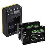 PATONA Cargador Doble LCD USB con 2X LP-E6N Premium Batería Compatible con Canon EOS R, 5D Mark II III IV, XC15, 70D, 80D, 90D