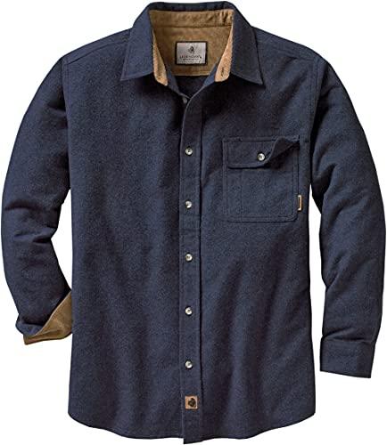 Legendary Whitetails Men's Standard Buck Camp Flannel Shirt, Navy...