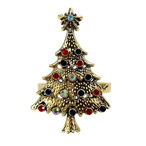 4 Stück Weihnachtsbaum Serviettenringe, Weihnachtsbaum-Design, Hochzeitsdekoration, Serviettenhalter, Partyzubehör
