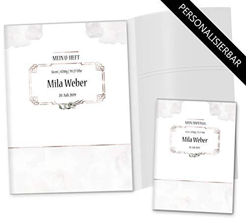 U-boekje hoezen set Cosmo honden onderzoeksboekje hoes & vaccinatiepashoes mooi cadeau-idee personaliseerbaar met naam en geboortedatum U-Heft Set 3-teilig personalisiert Blanco