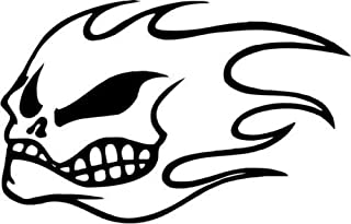 No Fear Skull Flame Vinyl Graphic Car Truck Windows Decor Decal Sticker - Die cut vinyl decal for windows, cars, trucks, tool boxes, laptops, MacBook - virtually any hard, smooth surface